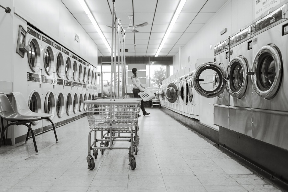 Laundry shop with lots of dryer